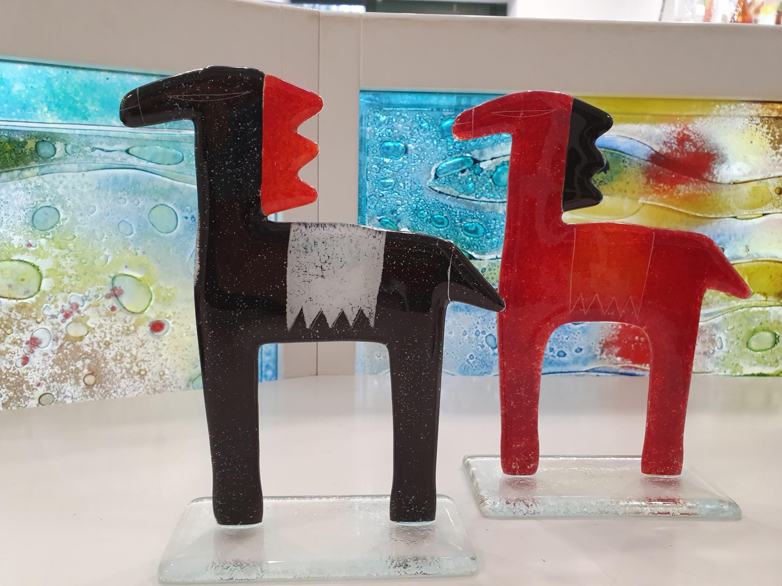 "glass sculptures ""horses"""